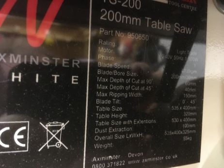 Axminster Table Saw-5